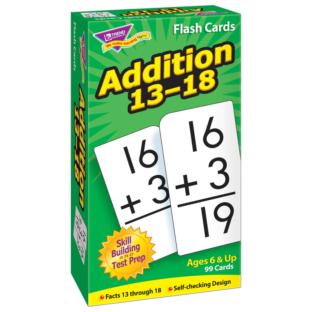 T53102 Flash Cards Addition 13-18 Box Left