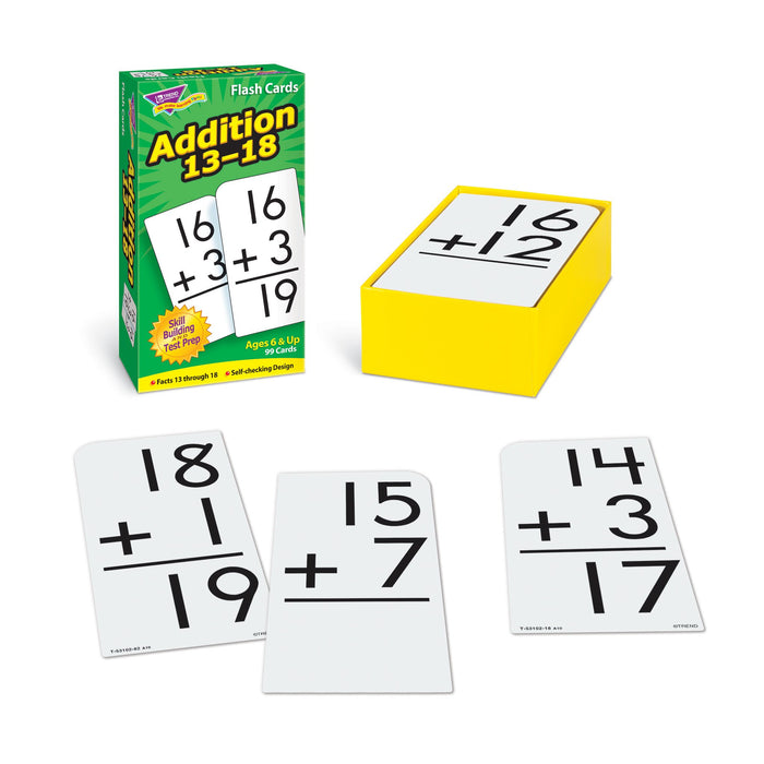 T53102 Flash Cards Addition 13-18