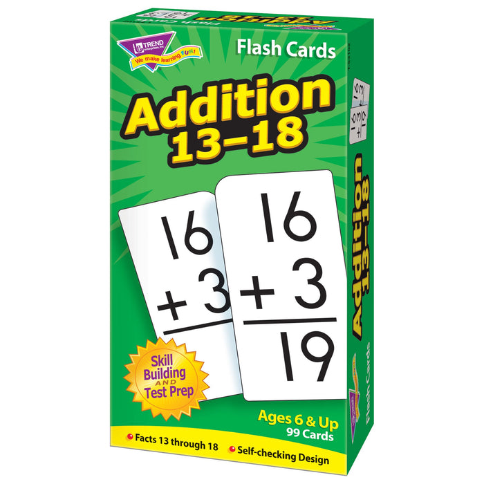 T53102 Flash Cards Addition 13-18 Box Right