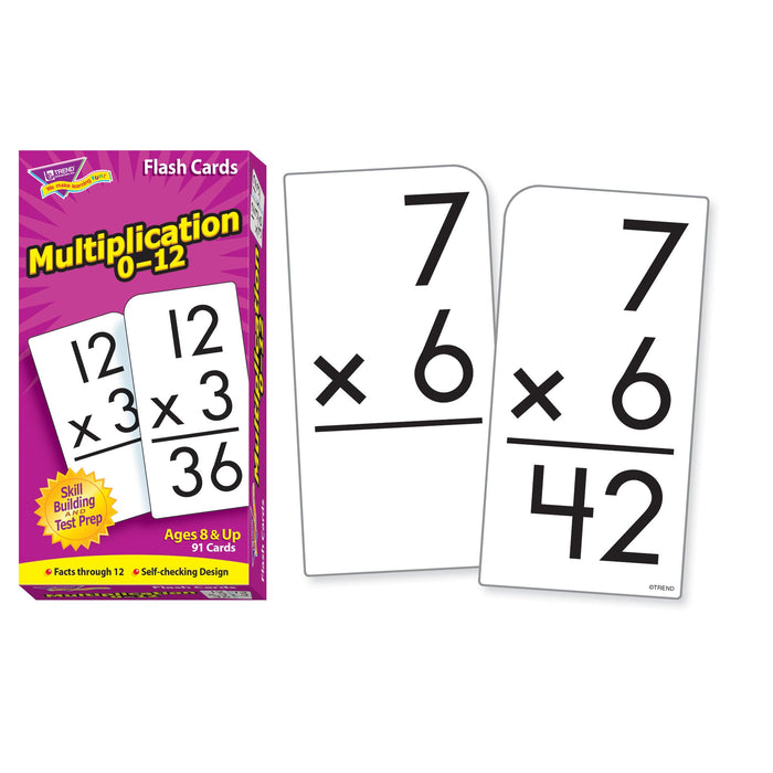 T53105 Flash Cards Multiplication 0-12
