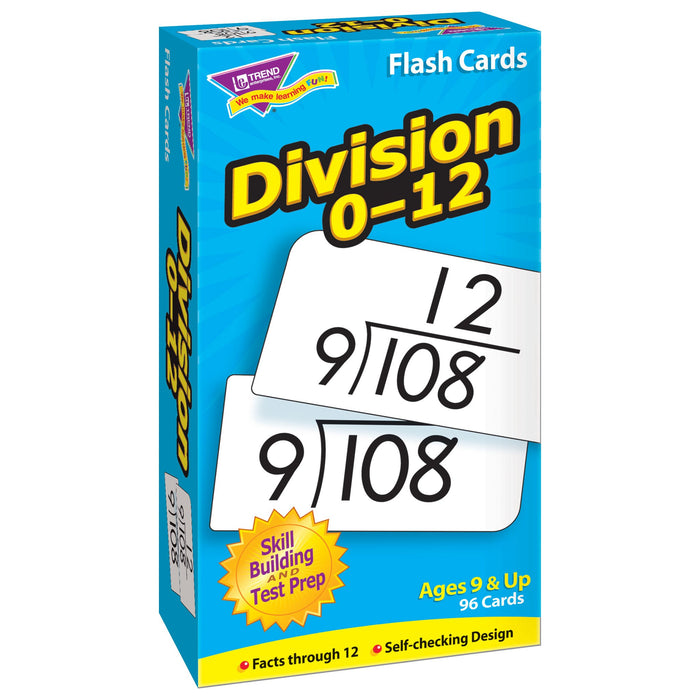 T53106 Flash Cards Division 0-12 Box Left