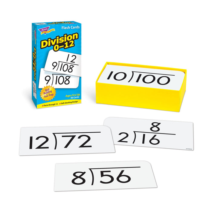 T53106 Flash Cards Division 0-12