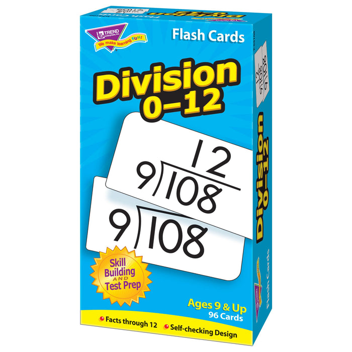 T53106 Flash Cards Division 0-12 Box Right