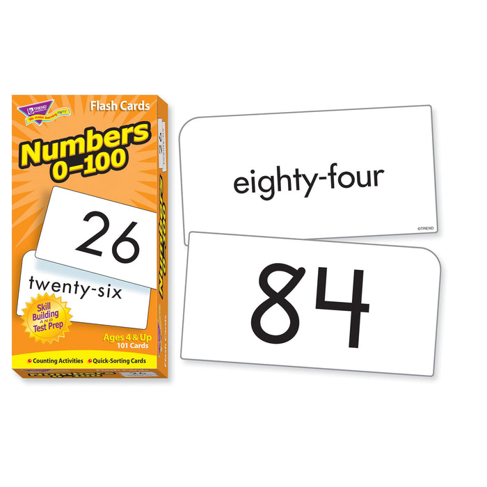 T53107 Flash Cards Numbers 0-100