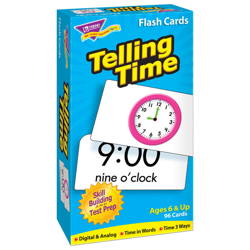T53108 Flash Cards Telling Time Box Left