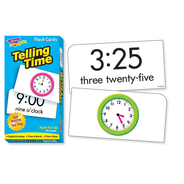 T53108 Flash Cards Telling Time