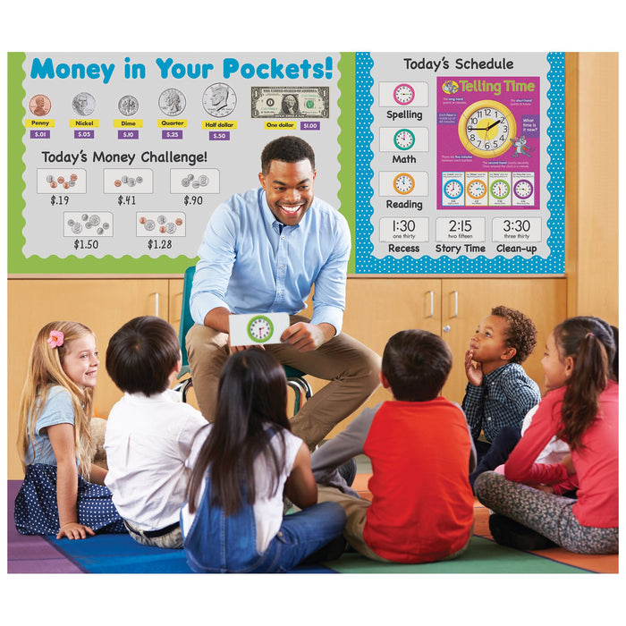 T53108 Flash Cards Telling Time Classroom