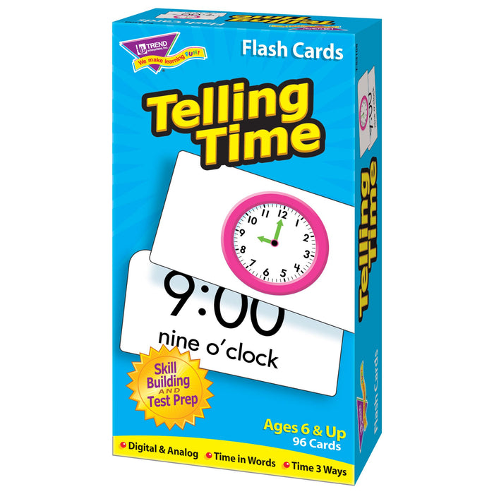 T53108 Flash Cards Telling Time Box Right