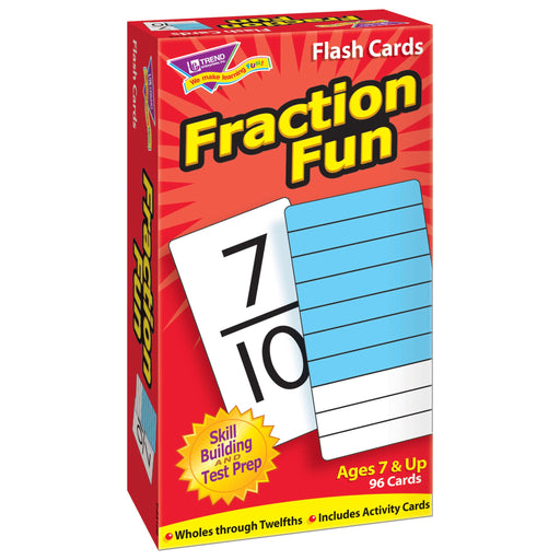 T53109 Flash Cards Fraction Fun Box Left