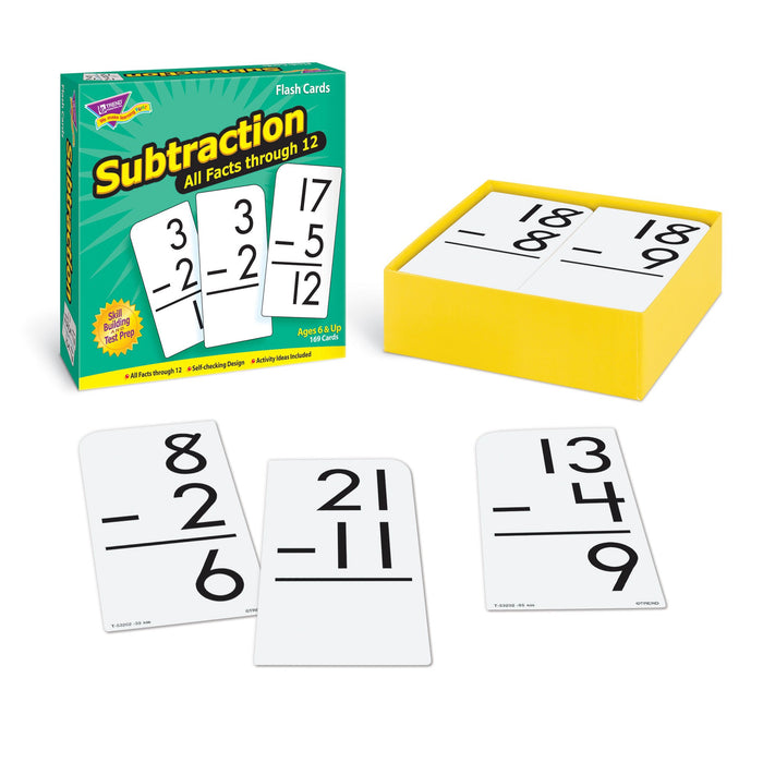 T53202 Flash Cards Subtraction