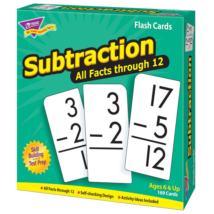 T53202 Flash Cards Subtraction Box Right