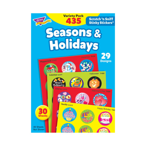 T580 Sticker Scratch n Sniff Variety Pack Seasons Holidays
