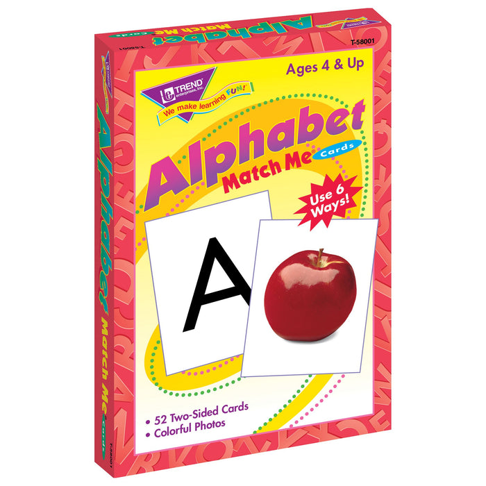 T58001 Matching Flash Cards Alphabet Box Left