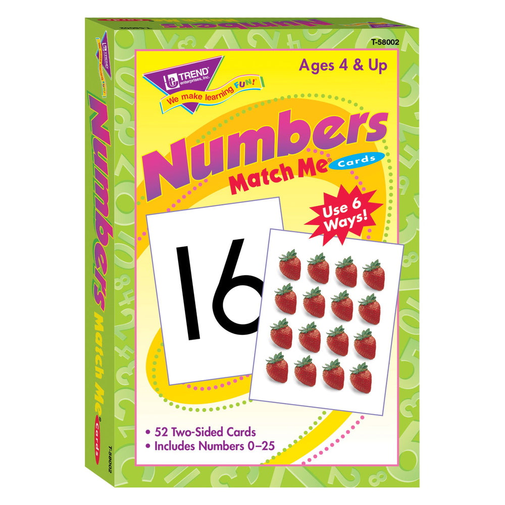 T58002 Matching Flash Cards Numbers Box Front