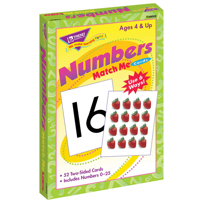 T58002 Matching Flash Cards Numbers 0-25 Box Left
