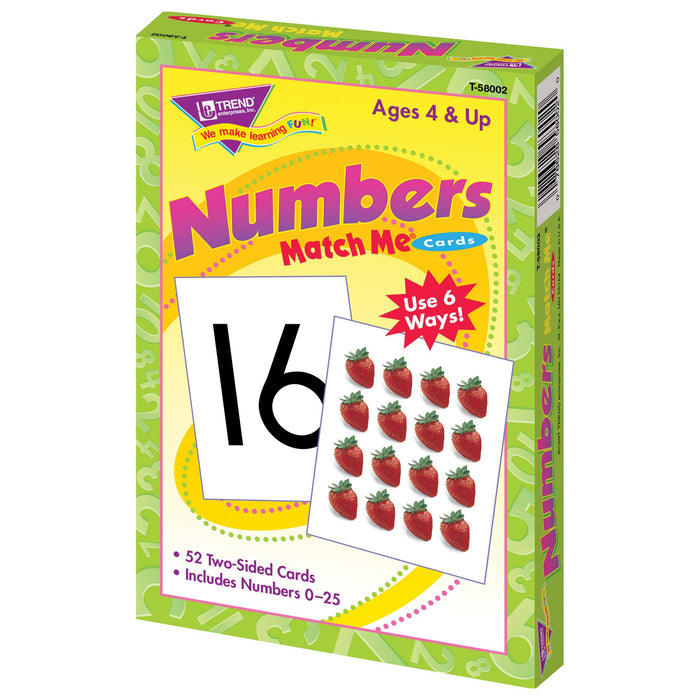 T58002 Matching Flash Cards Numbers 0-25 Box Right