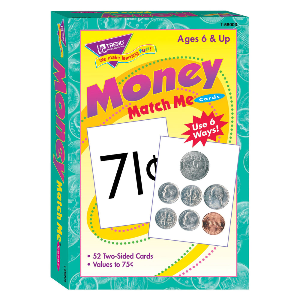 T58003 Matching Flash Cards Money Box Front