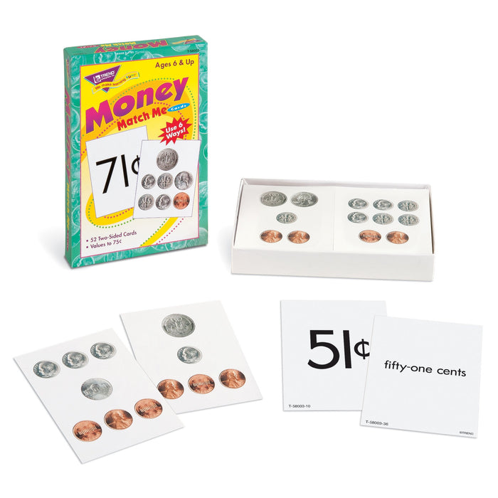 T58003 Matching Flash Cards Money