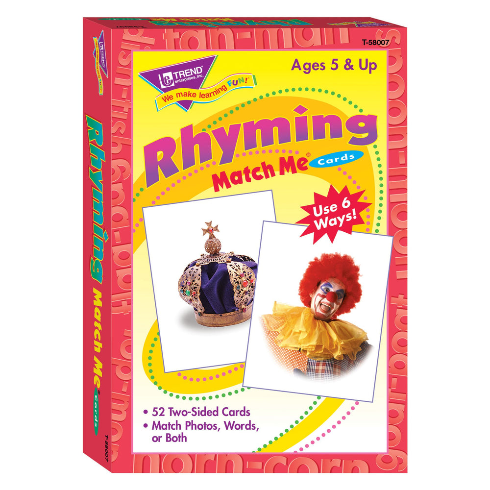 T58007 Matching Flash Cards Rhyming Box Front
