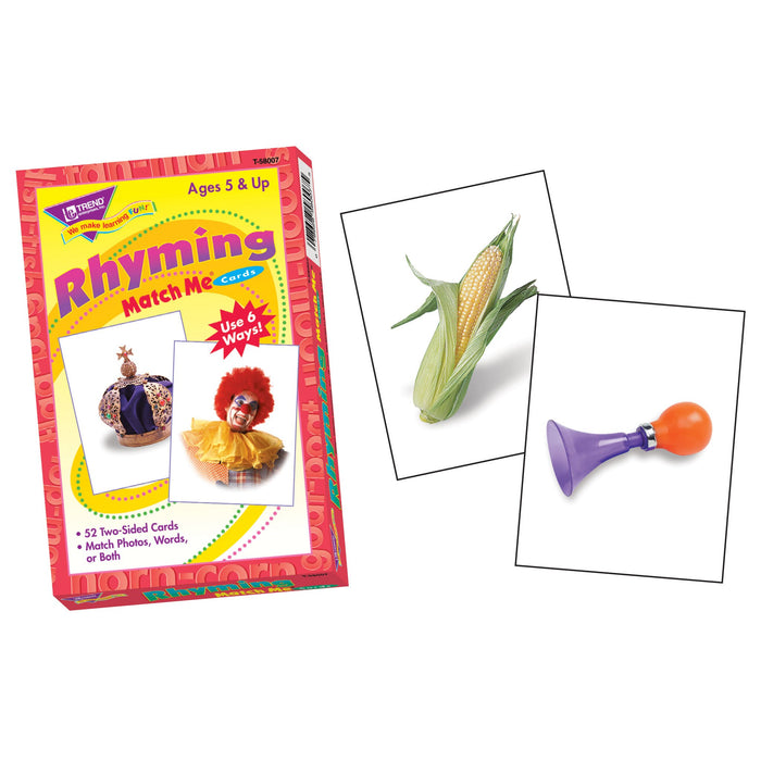 T58007 Matching Flash Cards Rhyming