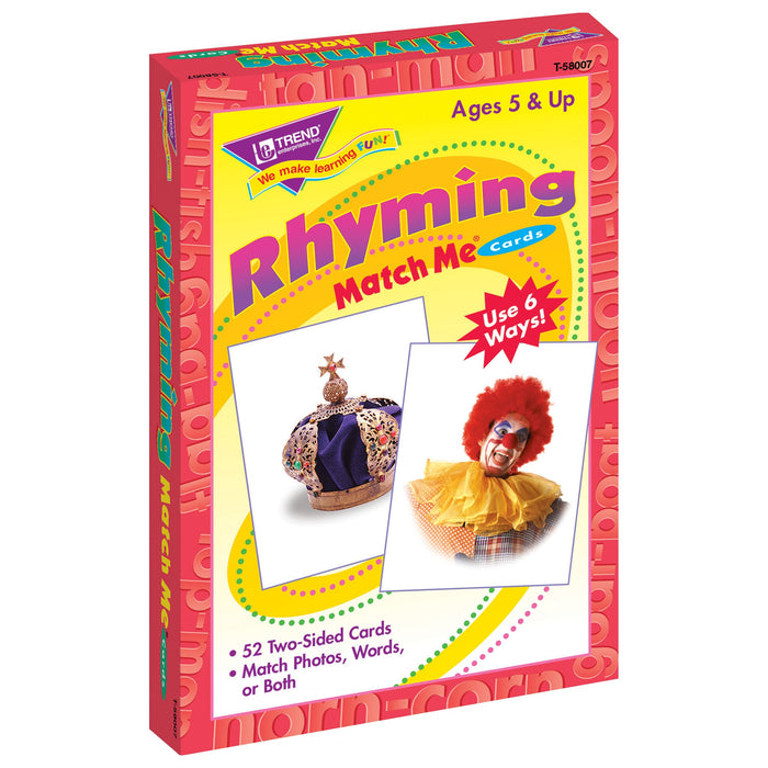 T58007 Matching Flash Cards Rhyming Box Left
