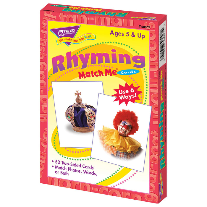 T58007 Matching Flash Cards Rhyming Box Right