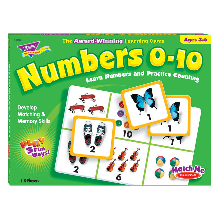 T58102 Matching Game Numbers Box Front