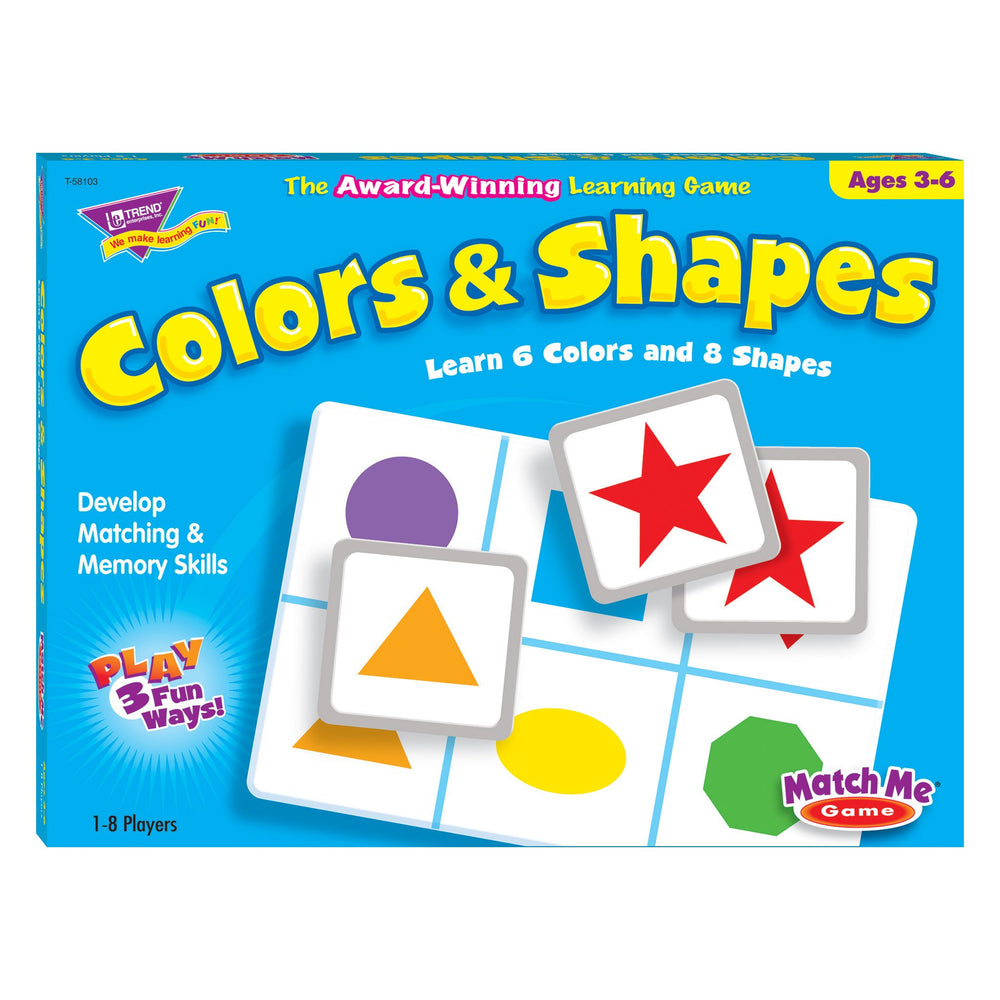 T58103 Matching Game Color Shapes Box Front