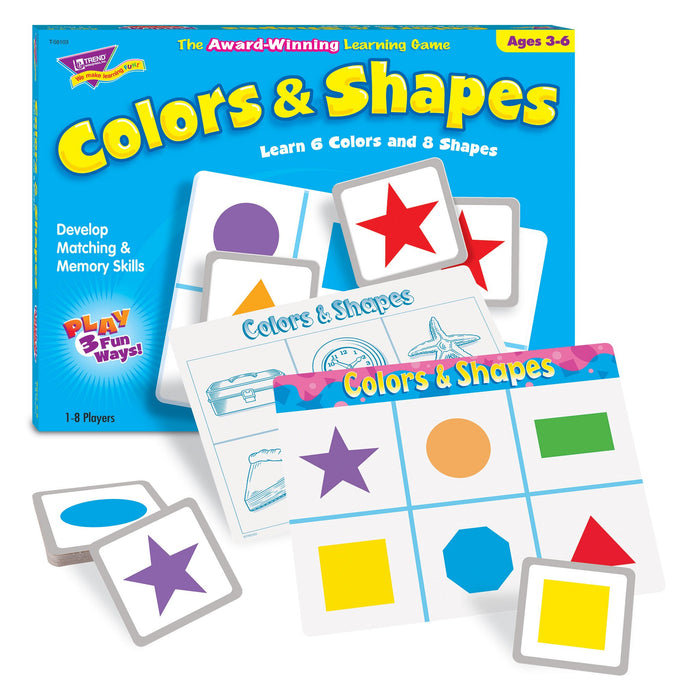 T58103 Matching Game Color Shapes
