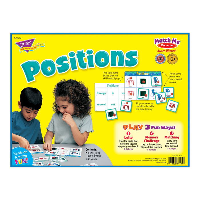 T58104 Matching Game Positions Box Back