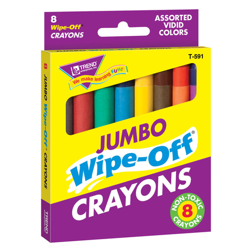 T591 Wipe Off Crayon Jumbo Box