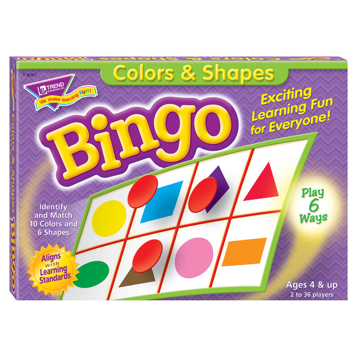 T6061 Bingo Game Color Shape Box Front