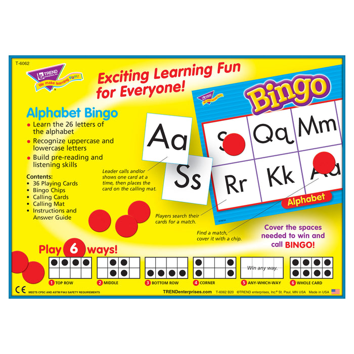 T6062 Bingo Game Alphabet Box Back