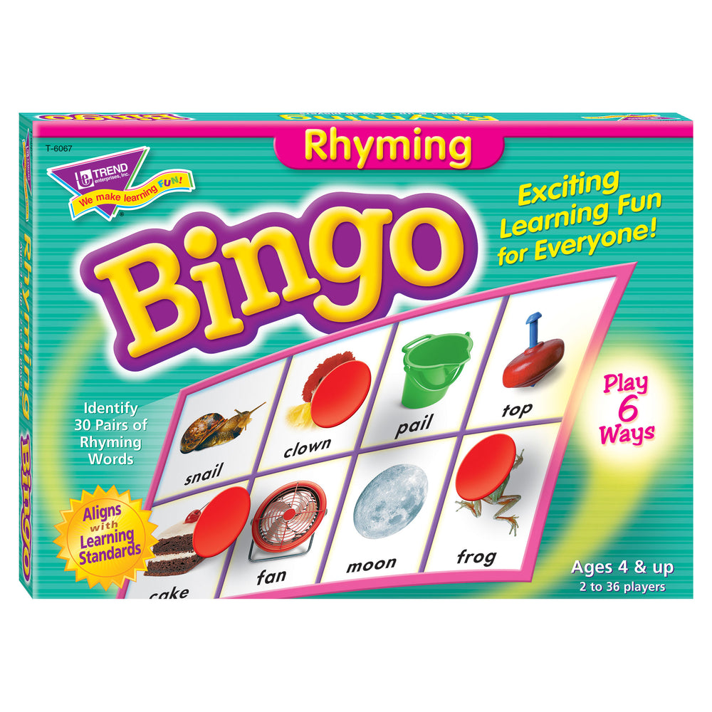 T6067 Bingo Game Rhyming Box Front