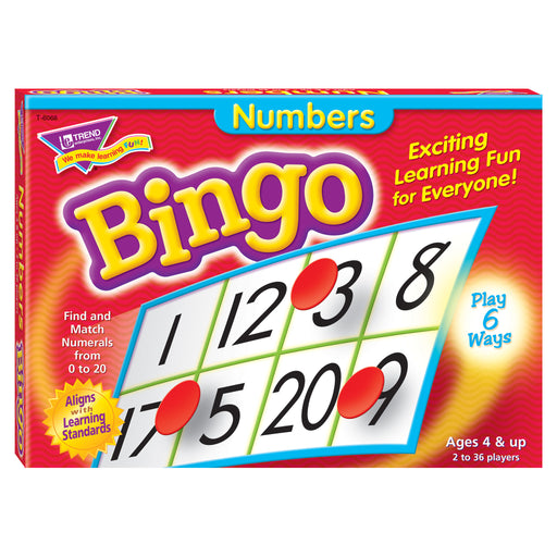 T6068 Bingo Game Numbers Box Front