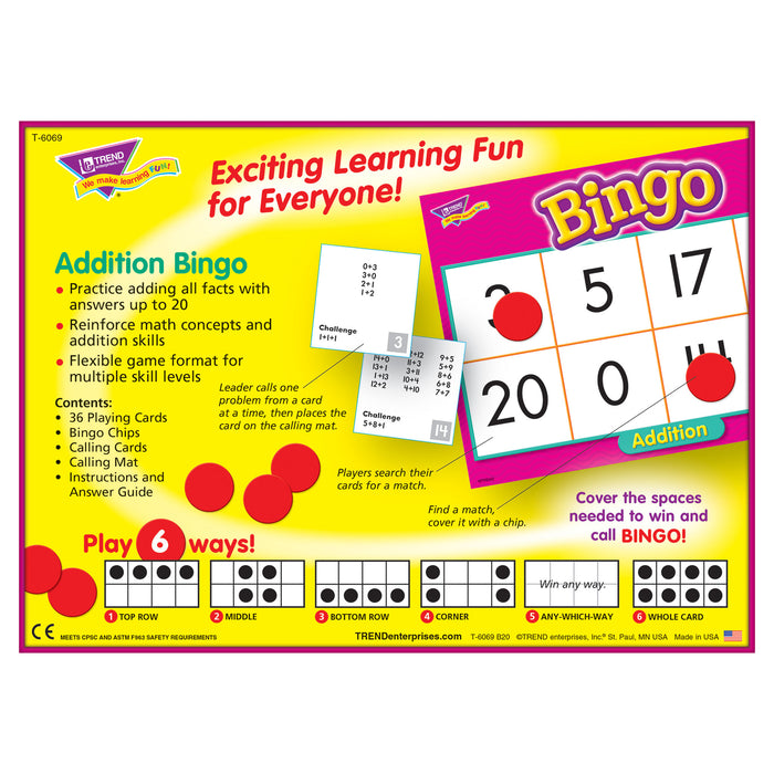 T6069 Bingo Game Addition Box Back