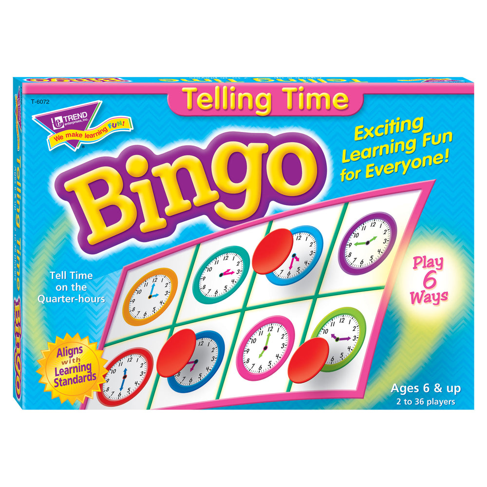 T6072 Bingo Game Telling Time Box Front