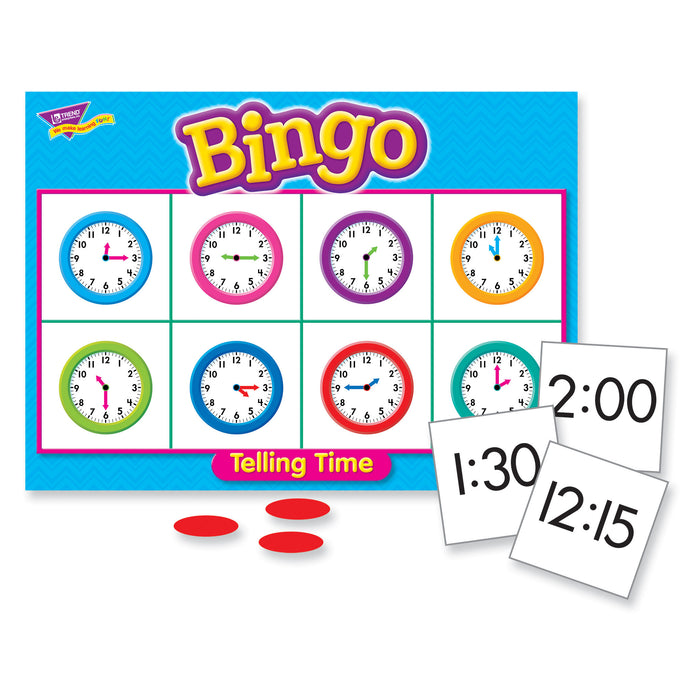 T6072 Bingo Game Telling Time