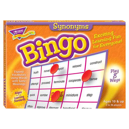 T6131 Bingo Game Synonyms Box Front