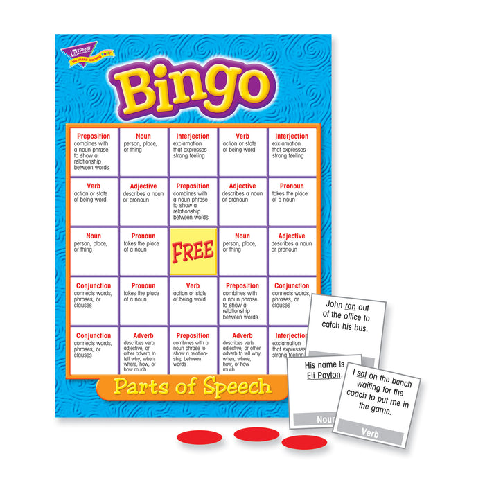 T6134 Bingo Game Parts Speech