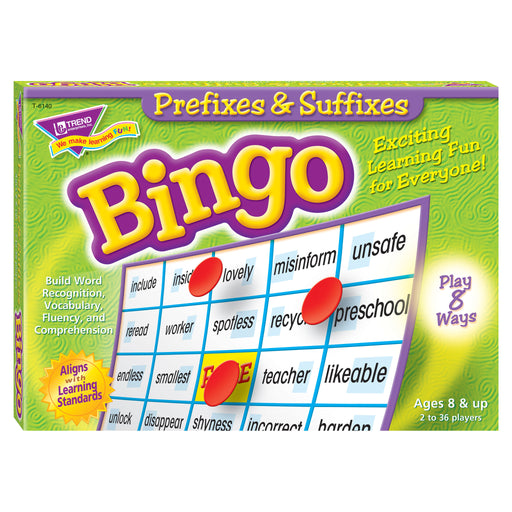 T6140 Bingo Game Prefixes Suffixes Box Front