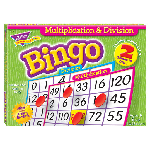 T6141 Bingo Game Multiplication Division Box Front