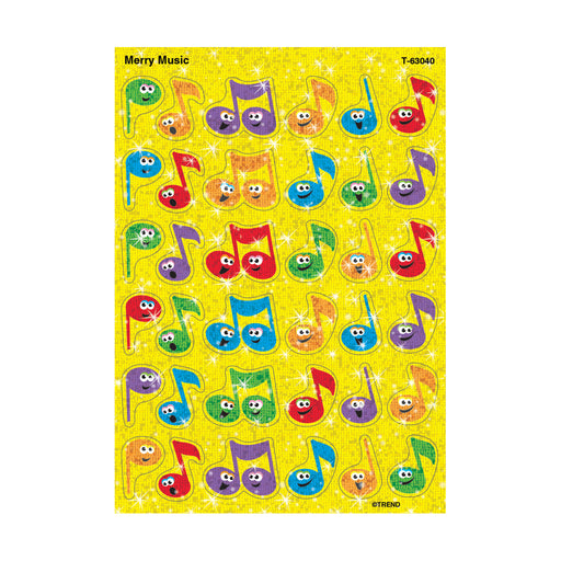T63040 Stickers Sparkle Music Notes