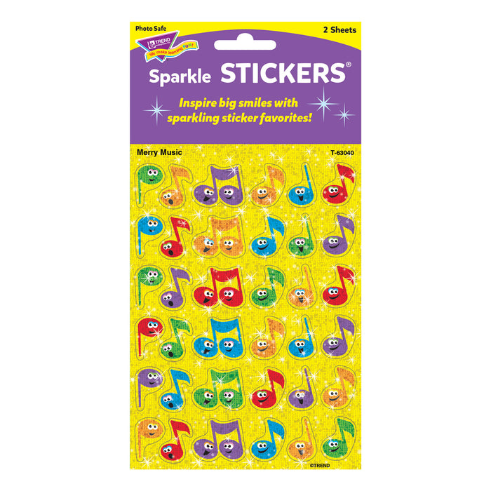 T63040 Stickers Sparkle Music Notes Package