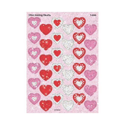 T6306 Stickers Sparkle Shimmer Hearts