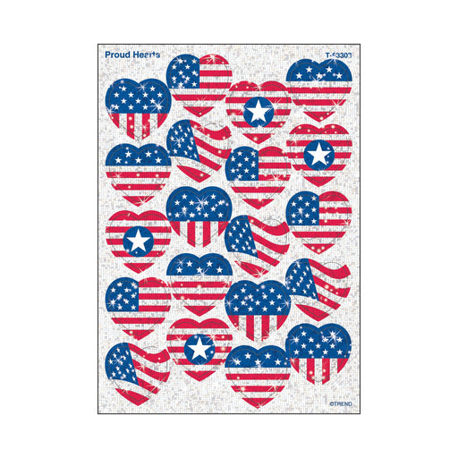 T63303 Stickers Sparkle Proud Hearts