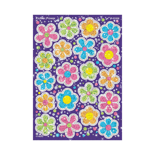 T63308 Stickers Sparkle Flower Power