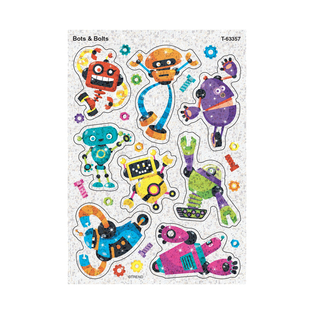 T63357 Stickers Sparkle Robots