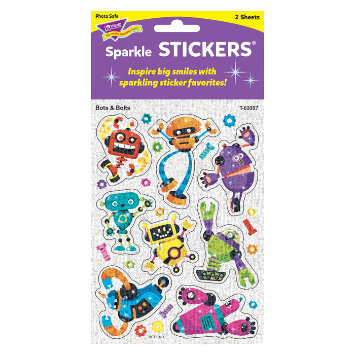 T63357 Stickers Sparkle Robots Package