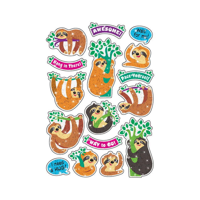 T63359 Stickers Sparkle Thoughtful Sloths
